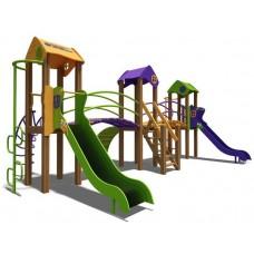 Ігровий комплекс помаранчевий-фіолетово-зелений Карапуз- NEW T803 NEW