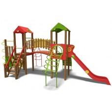 Ігровий комплекс зелено-фіолетово-помаранчевий Теремок- NEW T902 NEW