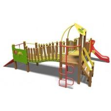 Ігровий комплекс зелено-фіолетово-помаранчевий Волна- NEW TЕ812 NEW