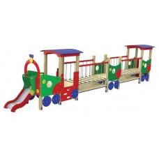 Дитячий ігровий комплекс Локомотив з двома вагонами T507