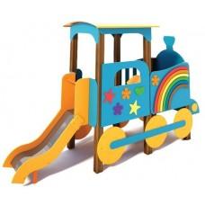 Дитячий ігровий комплекс Паровозик з гіркою Щастя T512
