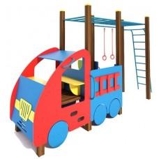 Дитячий ігровий комплекс Машинка з гімнастичним комплексом TE506
