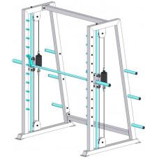 Тренажер вільні ваги Машина Смітта з противагою (ТС- 301.1)