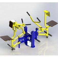 Вуличний тренажер Біцепс машина і важільна тяга SG124